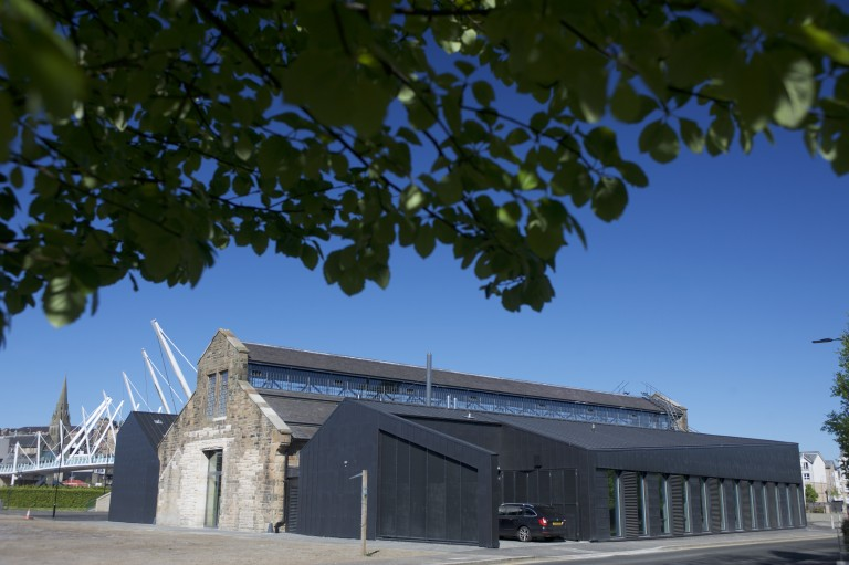 The outside of the Engine Shed on a sunny day