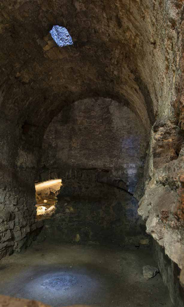 """Chamber beneath David's Tower, Edinburgh castle, thought to be the site of the """"Black Dinner"""""""