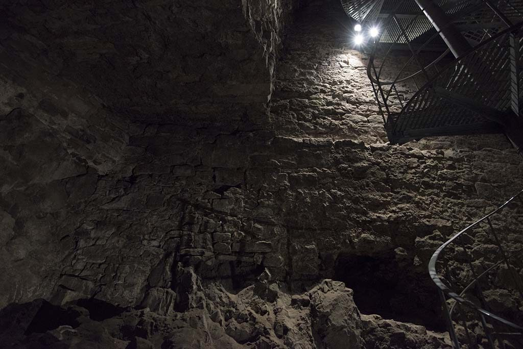 Internal chambers in David's Tower, part of Edinburgh Castle