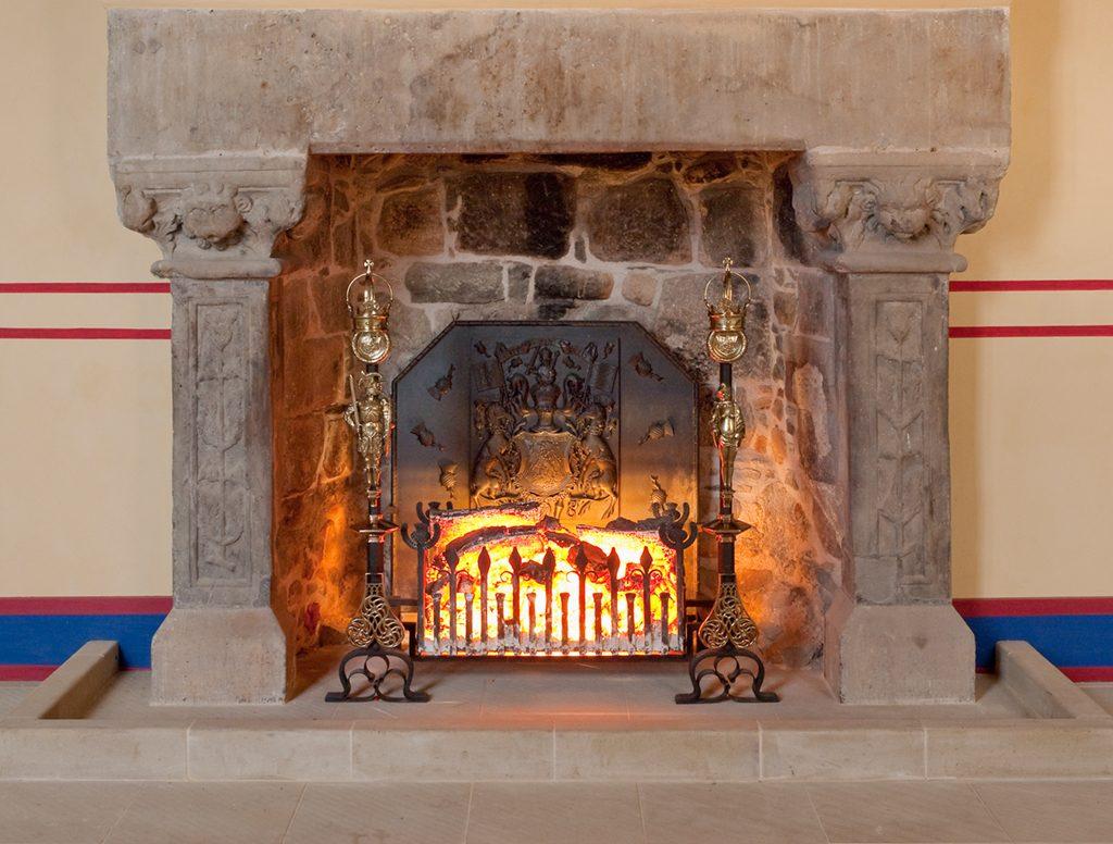 Original fireplace at Stirling castle.