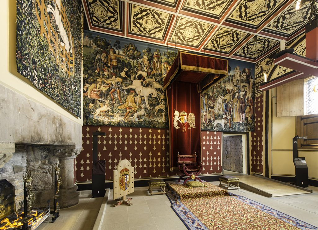 The Queen's Inner Hall of Stirling Castle's Royal Palace, restored as part of the Palace Project.