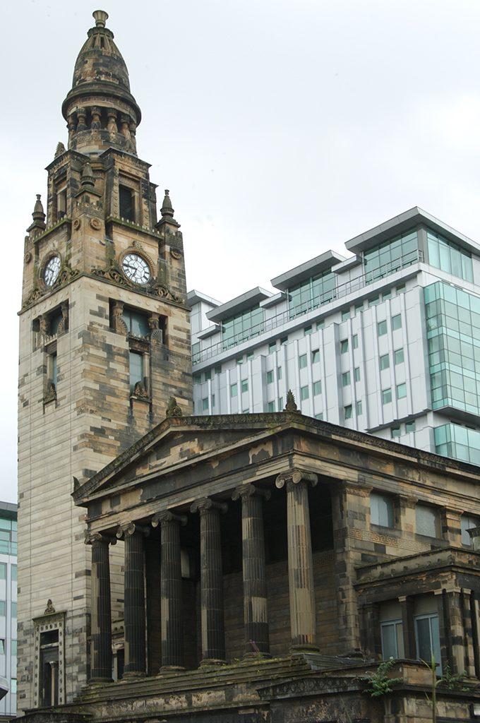 Alexander Greek Thomson's church on St Vincent Street, Glasgow