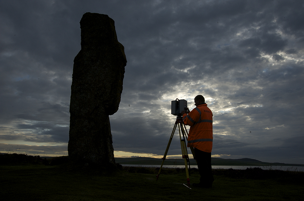 Scanning historic sites in Orkney as part of the Scottish Ten project