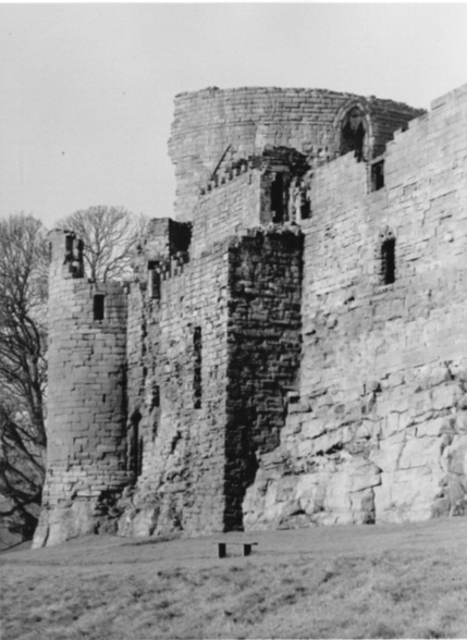 Photo c.1955 showing latrine tower now consolidated