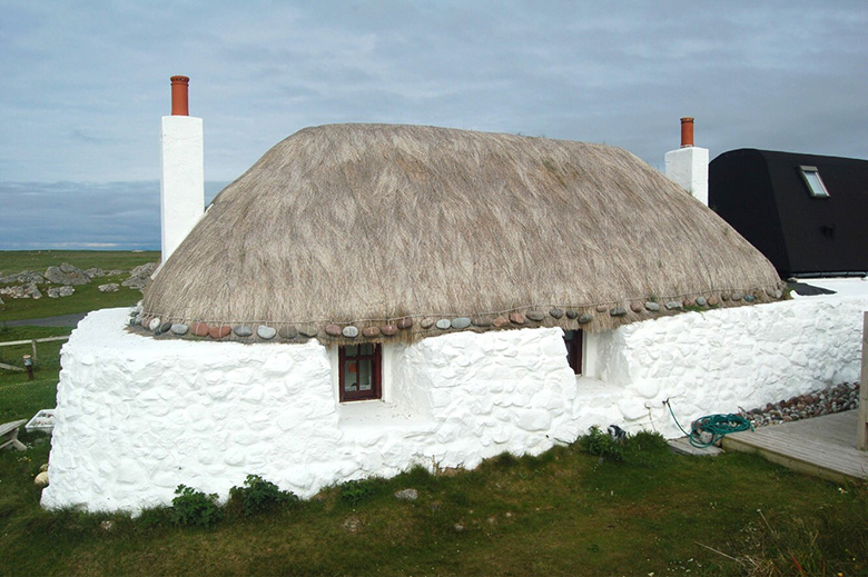 A thatch cottage in the Hebrides