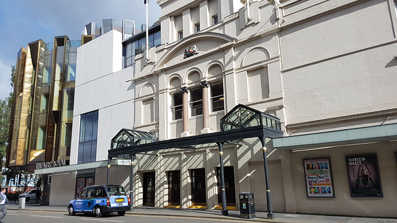 The outside of Glasgow's Theatre Royal