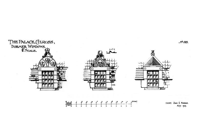 Drawings of dormer windows at Culross Palace