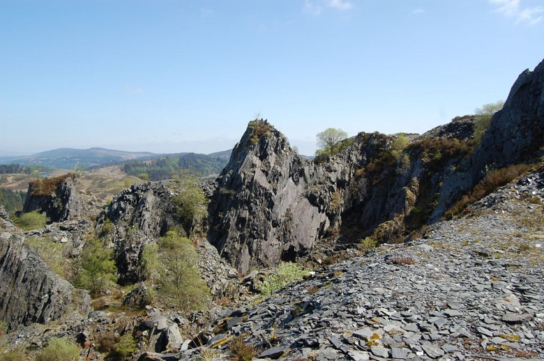 A slate quarry in the countryside