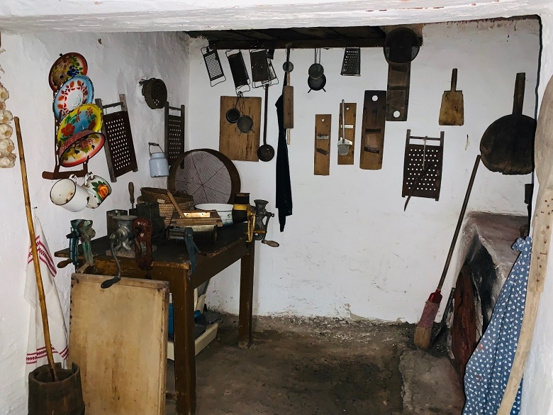 The black kitchen at Listov Museum