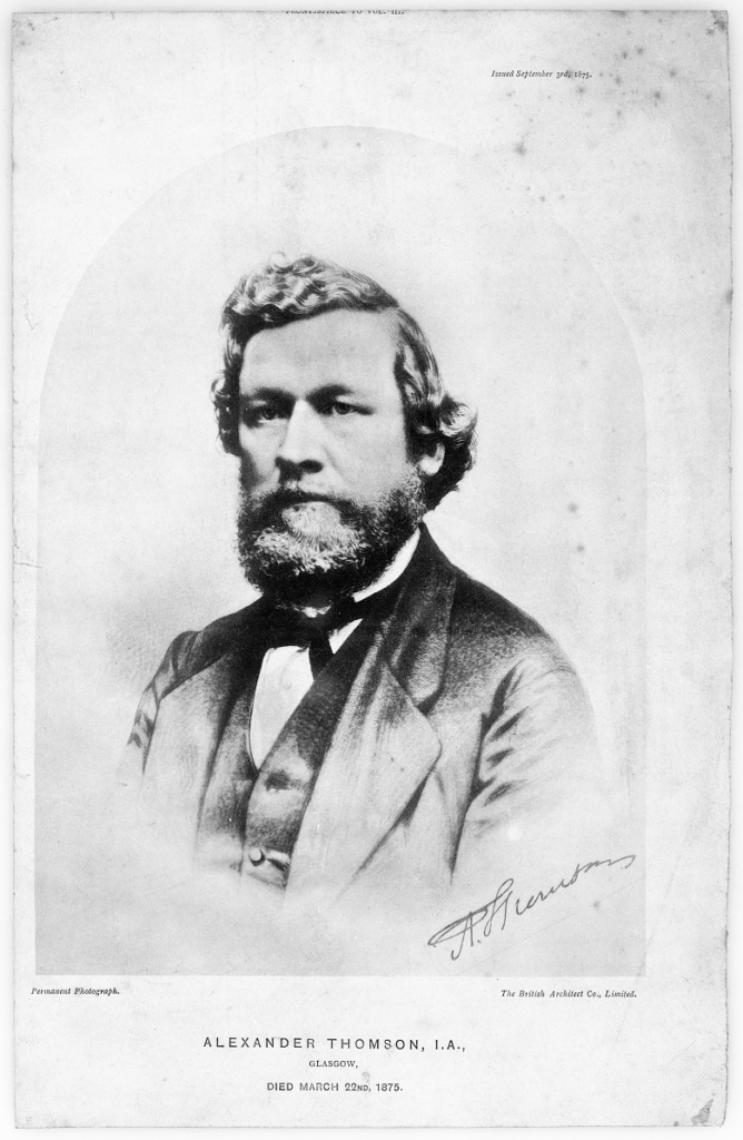 A black and white picture of Alexander Thomson.