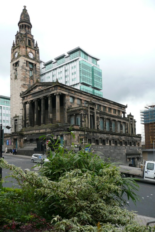 A large stone church on a plinth in Glasgow