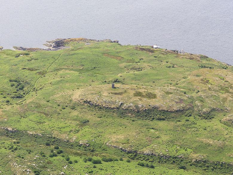 A small lighthouse on an island