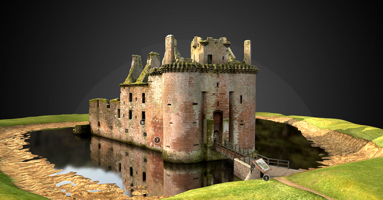 A 3D model of Caerlaverock Castle