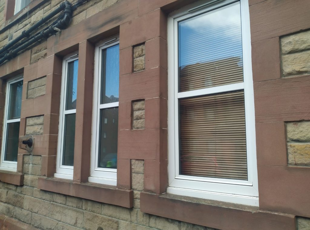 uPCV windows in a tenement flat