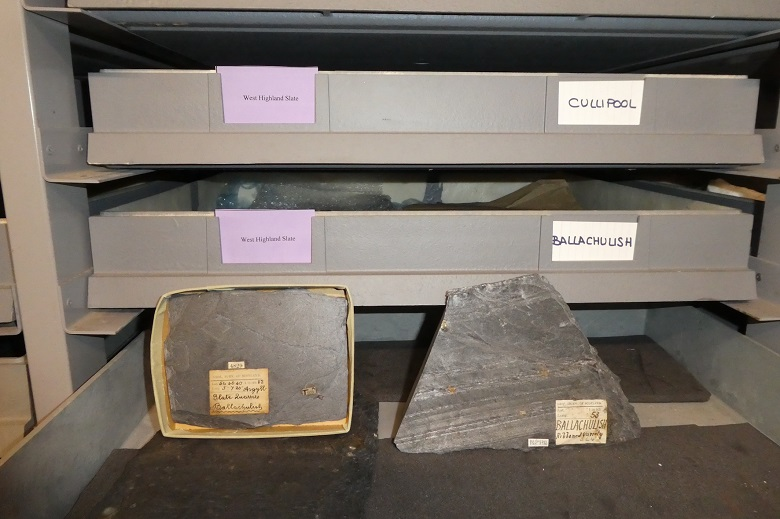 Two slates inside an archive